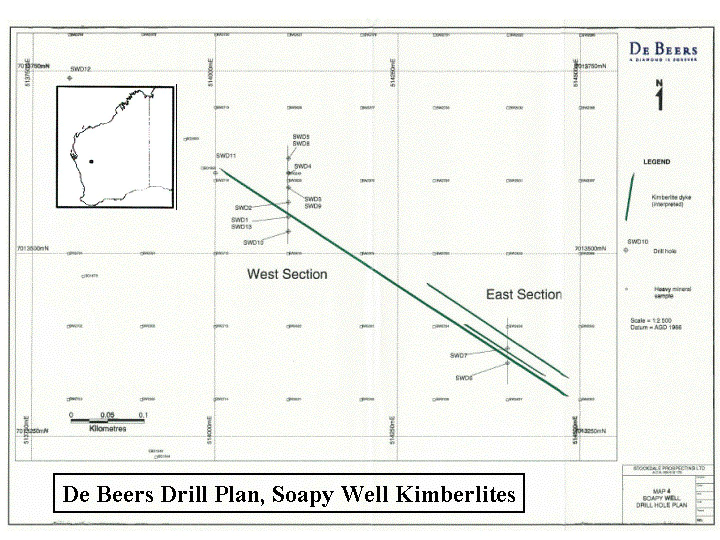 De Beers Drill Plan - Soapy Bore