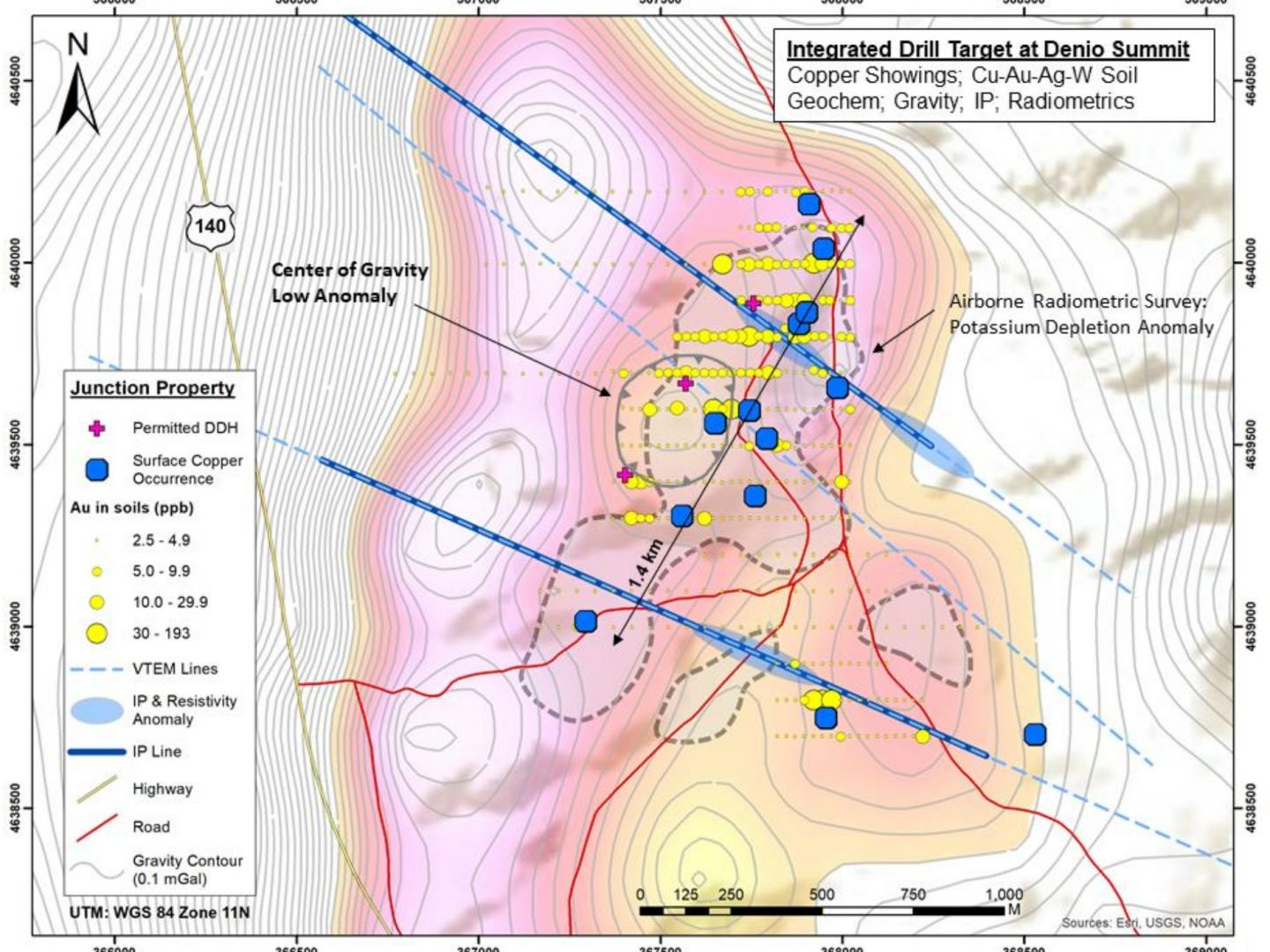 Junction Project - Integrated Drill Target at Denio Summit