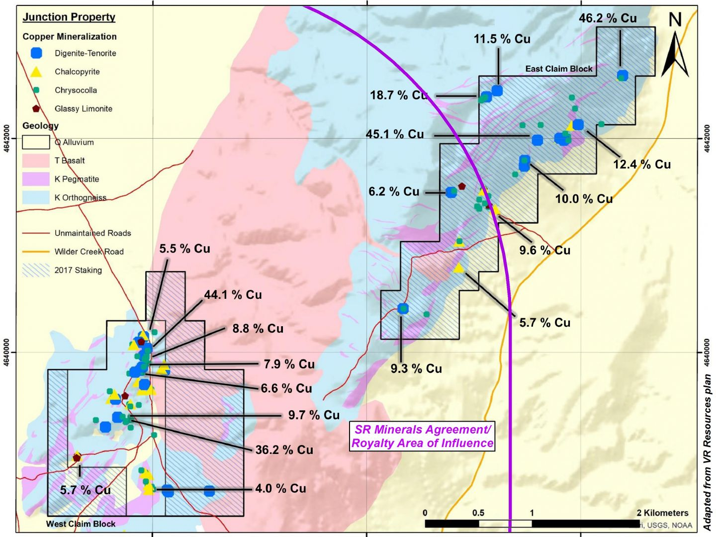 Junction Property - SR Minerals Agreement & Royalty Area of Influence