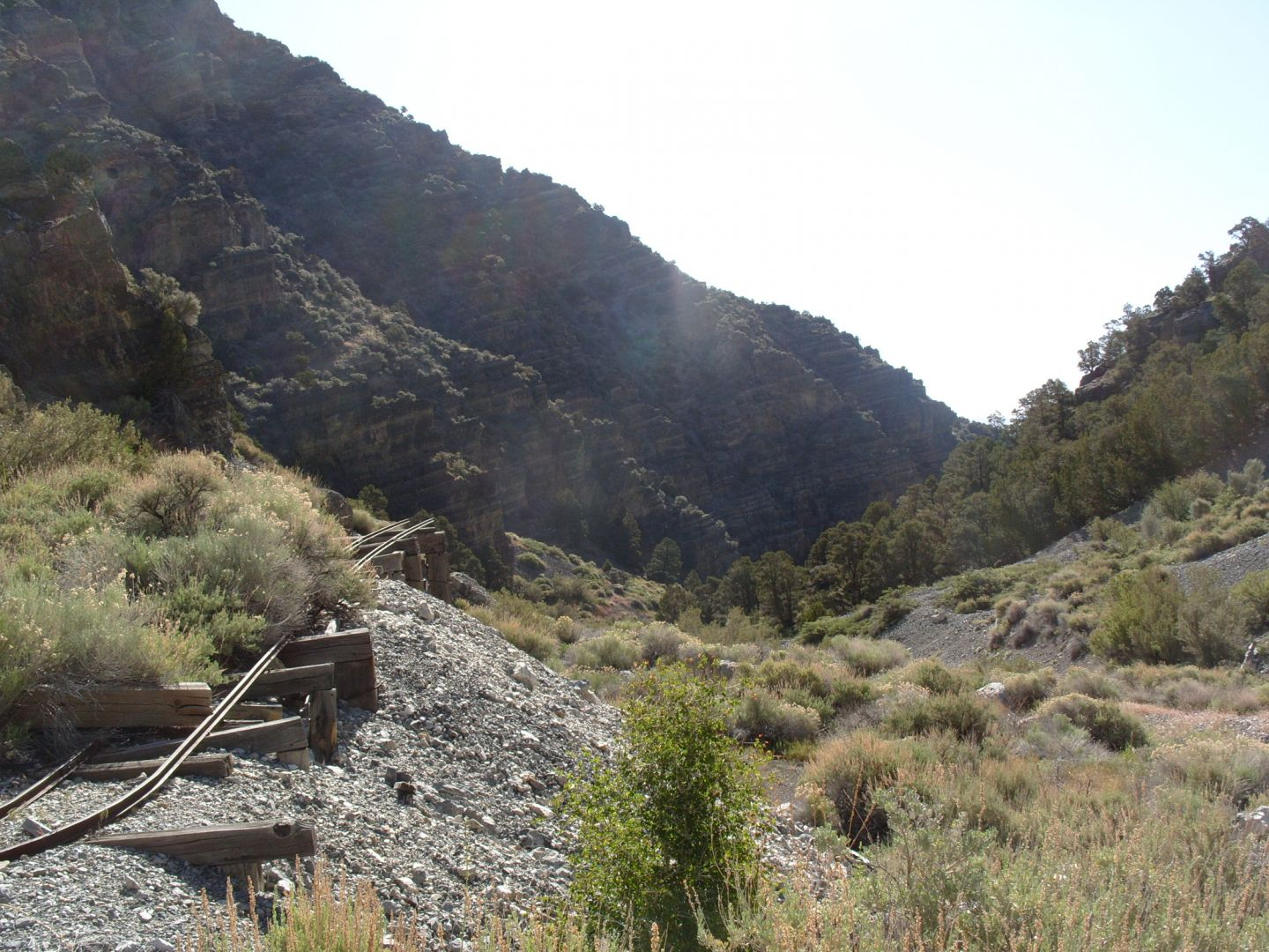 Mining Canyon at Bay State Mine