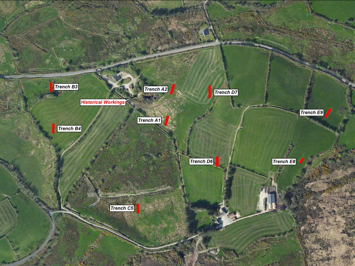 Derryginagh Trenching Locations