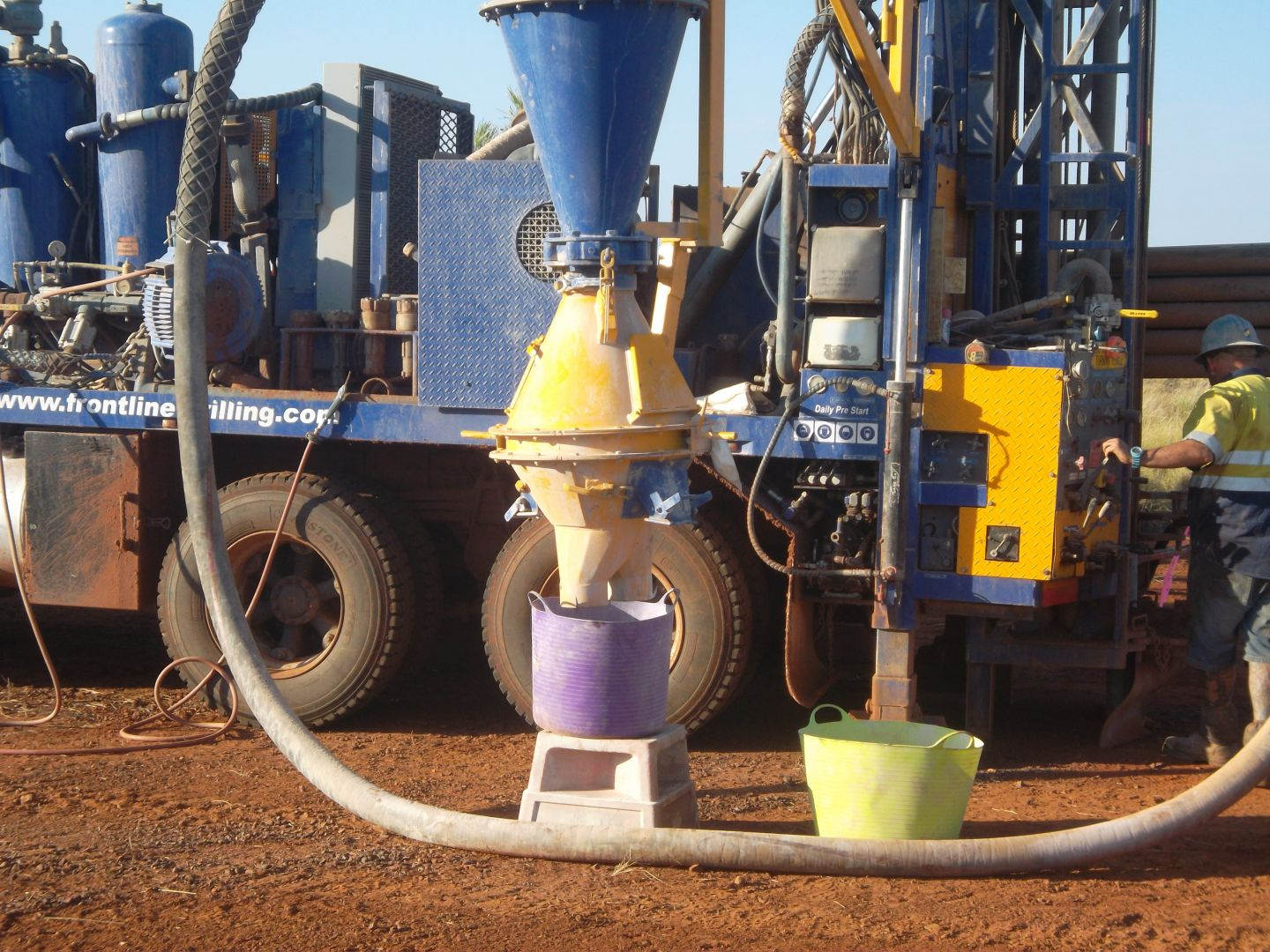 Drilling at Cue