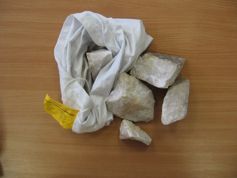 High Grade White Barite Sample