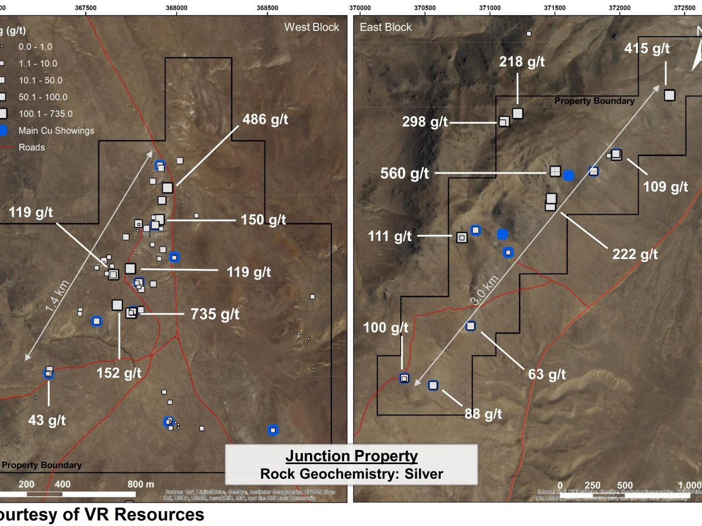 Junction Property - Rock Geochemistry: Silver