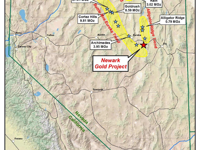Newark Gold Project Location Plan
